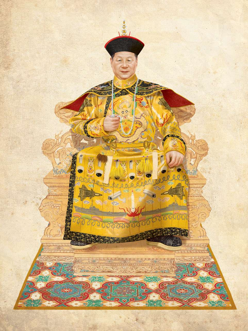 Jason Raish, Photo realistic illustration for Special Edition of L'Obs about 2,000 years of Chinese power up to the current president Xi Jinping