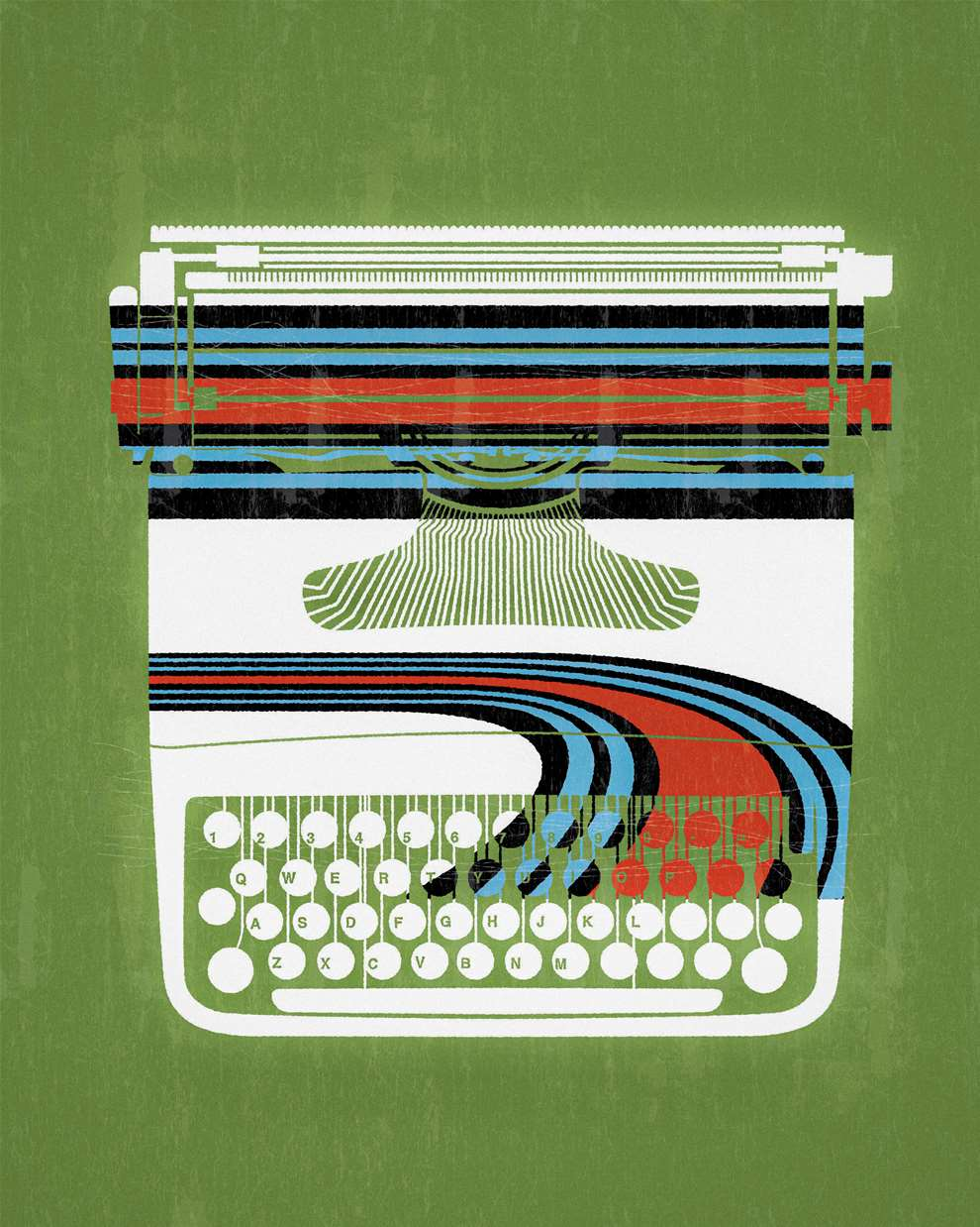 Paul Wearing, Digital and vector style illustration of a typewriter.