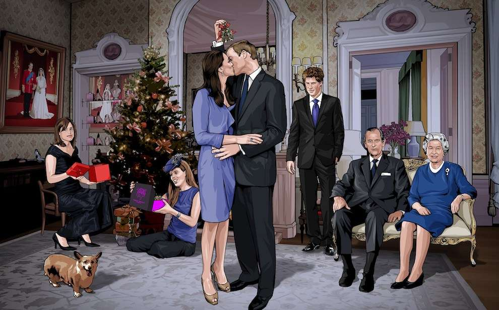 Benjamin Wachenje, Photo realistic illustration of the royal family portrait during christmas