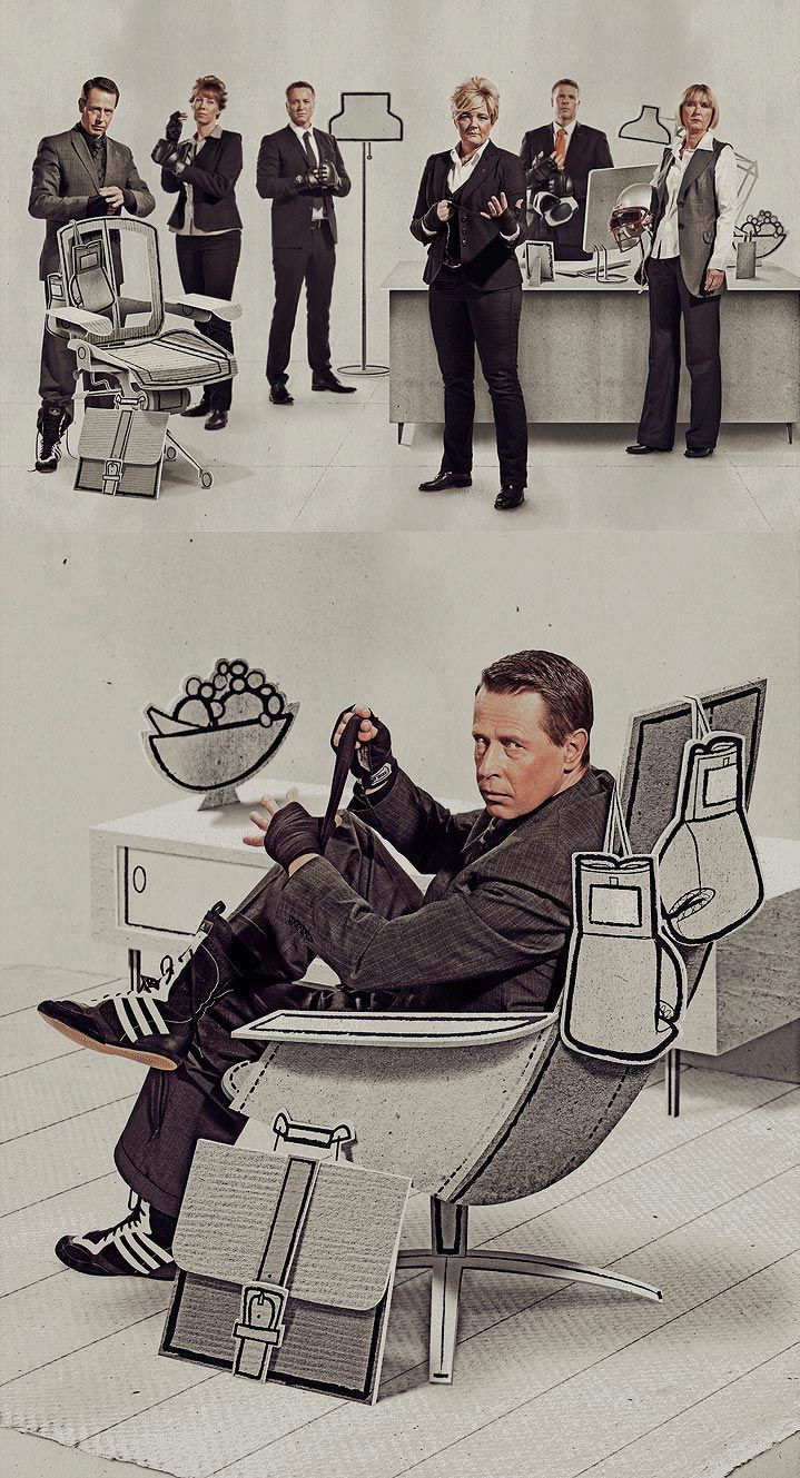 cut out, paper, realism, illustration, illustrator, people, digital, hand drawn, jonas bergstrand, mixed media, office, characters, photo