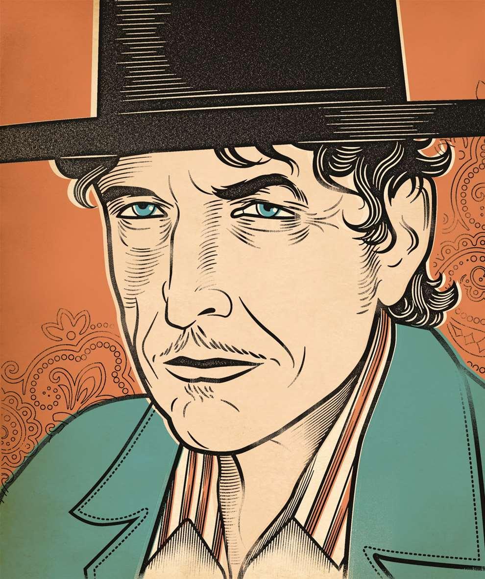 Susan Burghart, Portrait of Bob Dylan.