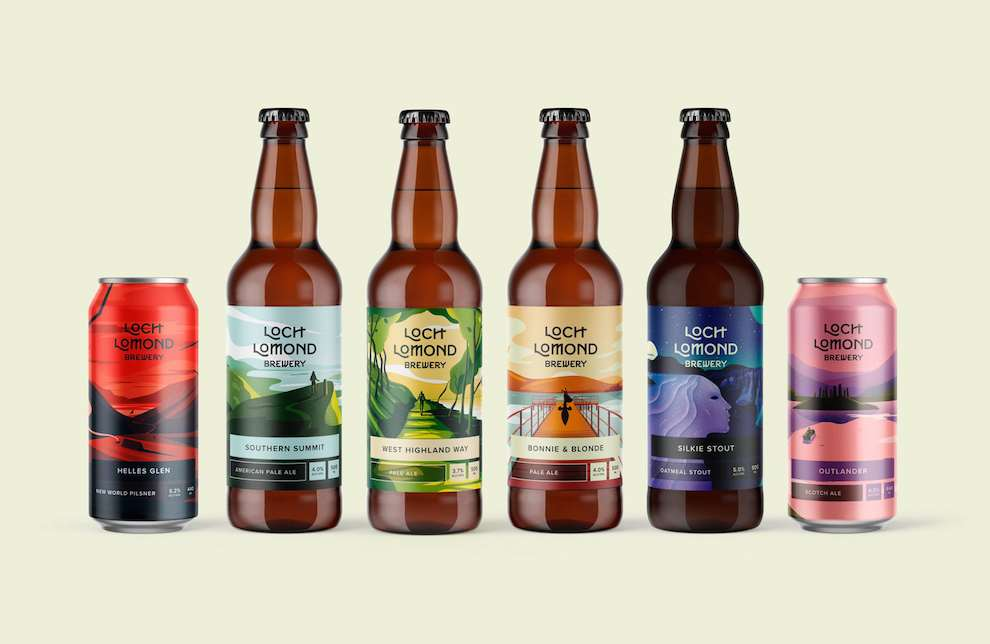 Jack Daly, Packaging labels for Loch Lomond Brewery Beers.