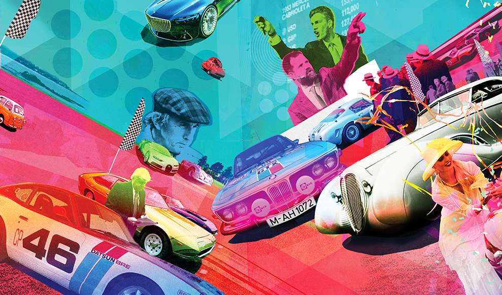 Tim Marrs, Photo collage illustration of racing cars