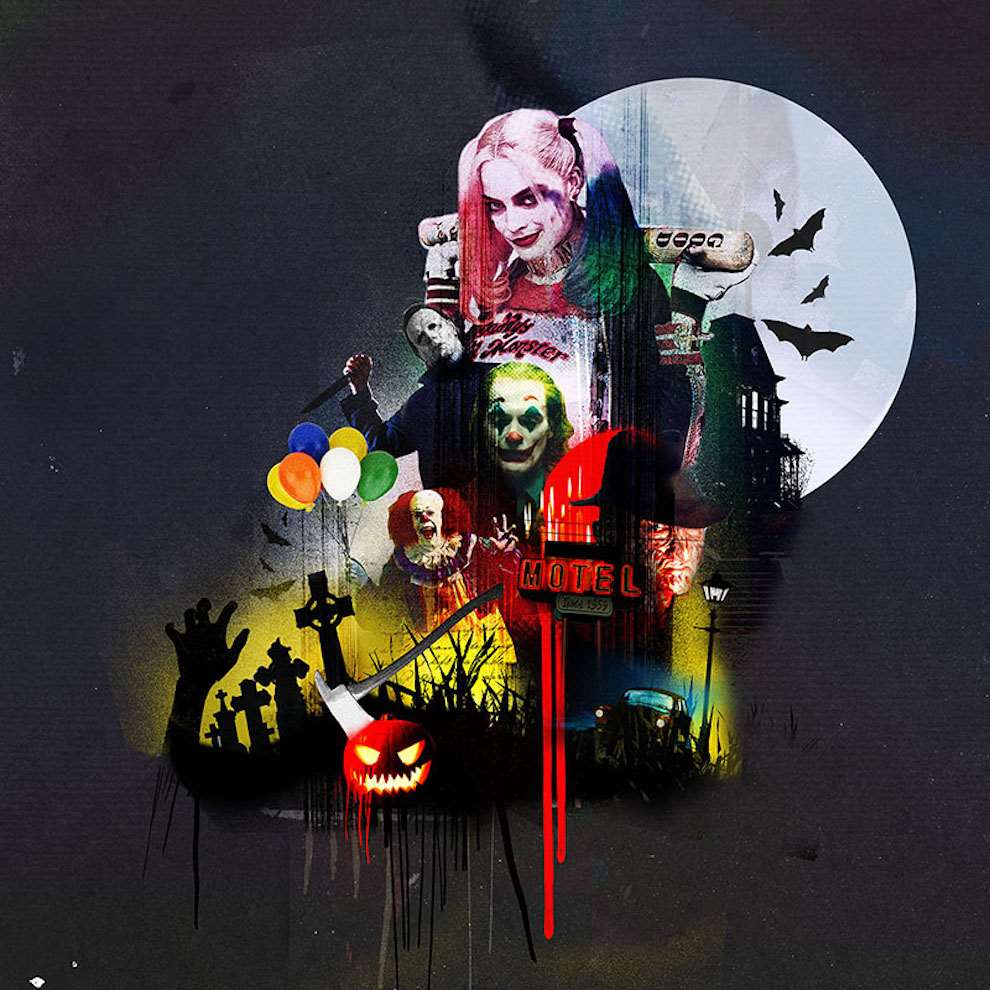 Tim Marrs, Dark mixed media photographic illustration of suicide squad characters