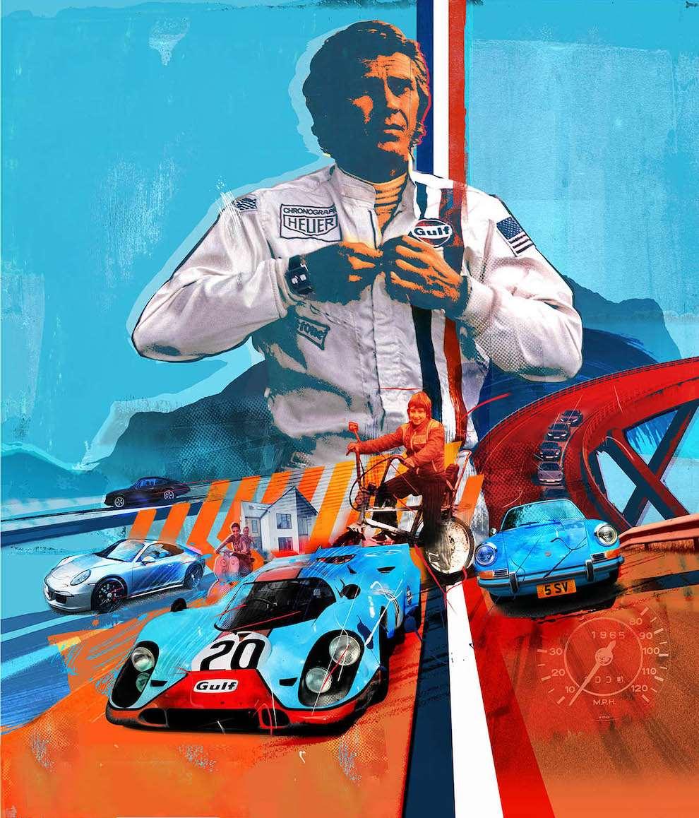 Tim Marrs, Mixed media racing illustration