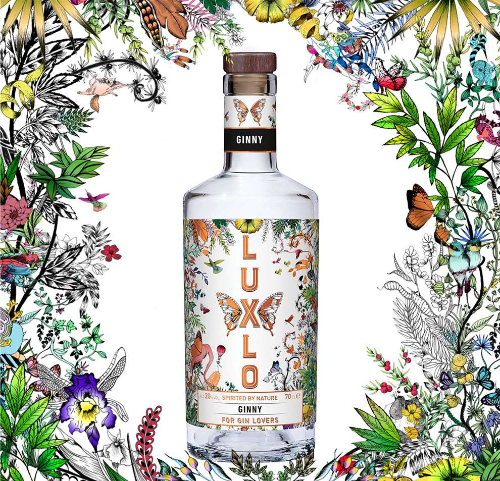 Good Wives and Warriors, LUXLO Gin Illustration Botanical, Decorative, Branding.