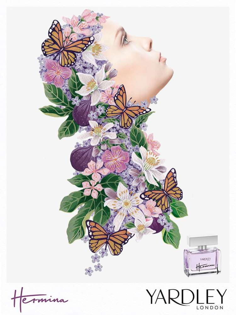 Charlotte Day, charlotte day, illustration, illustrator, botanical, flowers, leaves, pattern, design, contemporary, painterly, fresh, modern, horticultural, craftsmanship, packaging, book cover, campaigns, publishing, editorial, female, flowers, florals, decorative