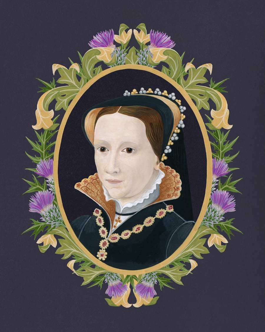 Charlotte Day, Handpainted decorative portrait of a queen