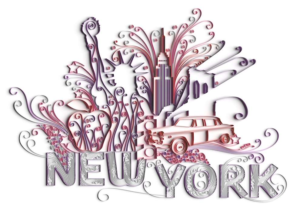 2&3, Quilling CGI illustration fo New York