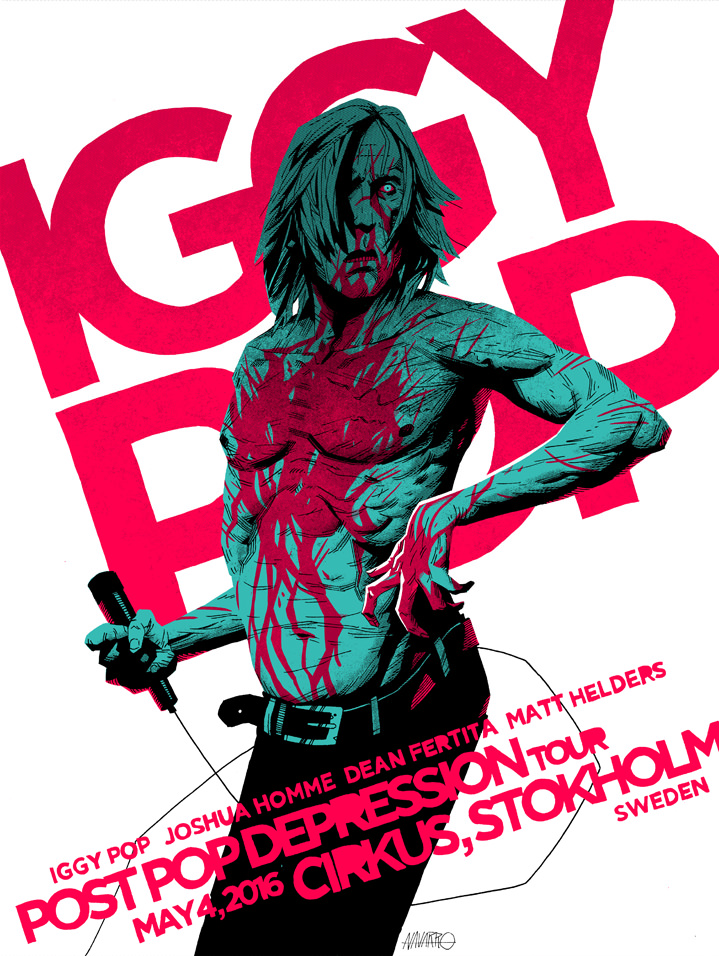 Coke Navarro, Poster art for Iggy Pop