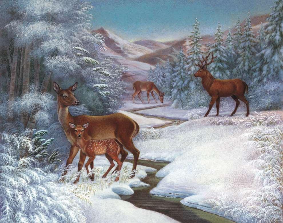 Carol Lawson, Snowy handpainted scenery