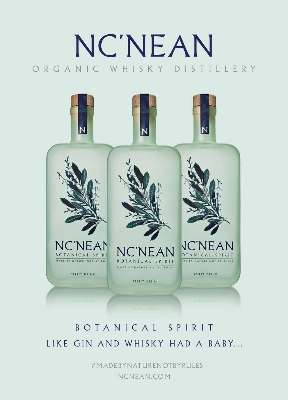 Charlotte Day, Botanical packaging for 'Nc'Nean' spirit bottle.