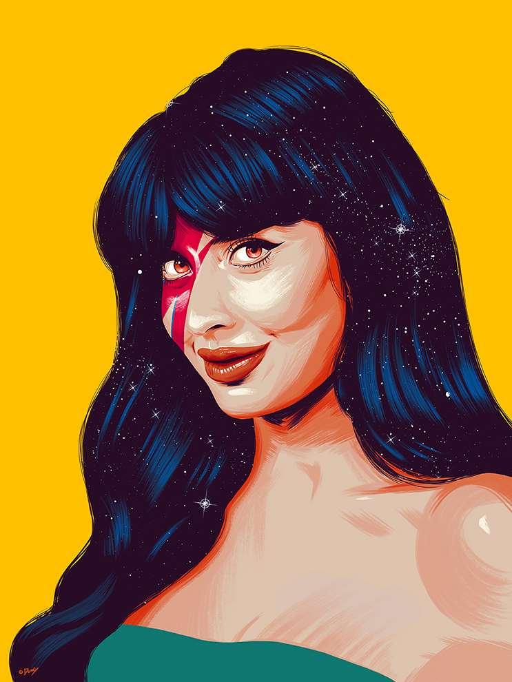 Doaly, Portrait of Jameela Jamil