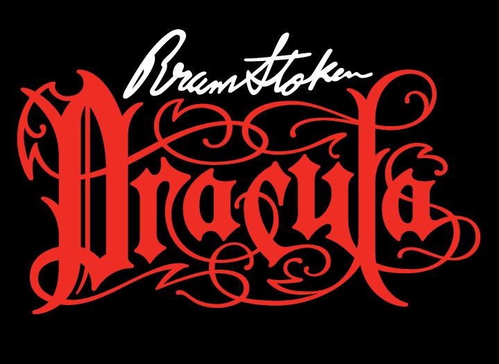 Michael Doret, decorative typography for Disney movie Dracula