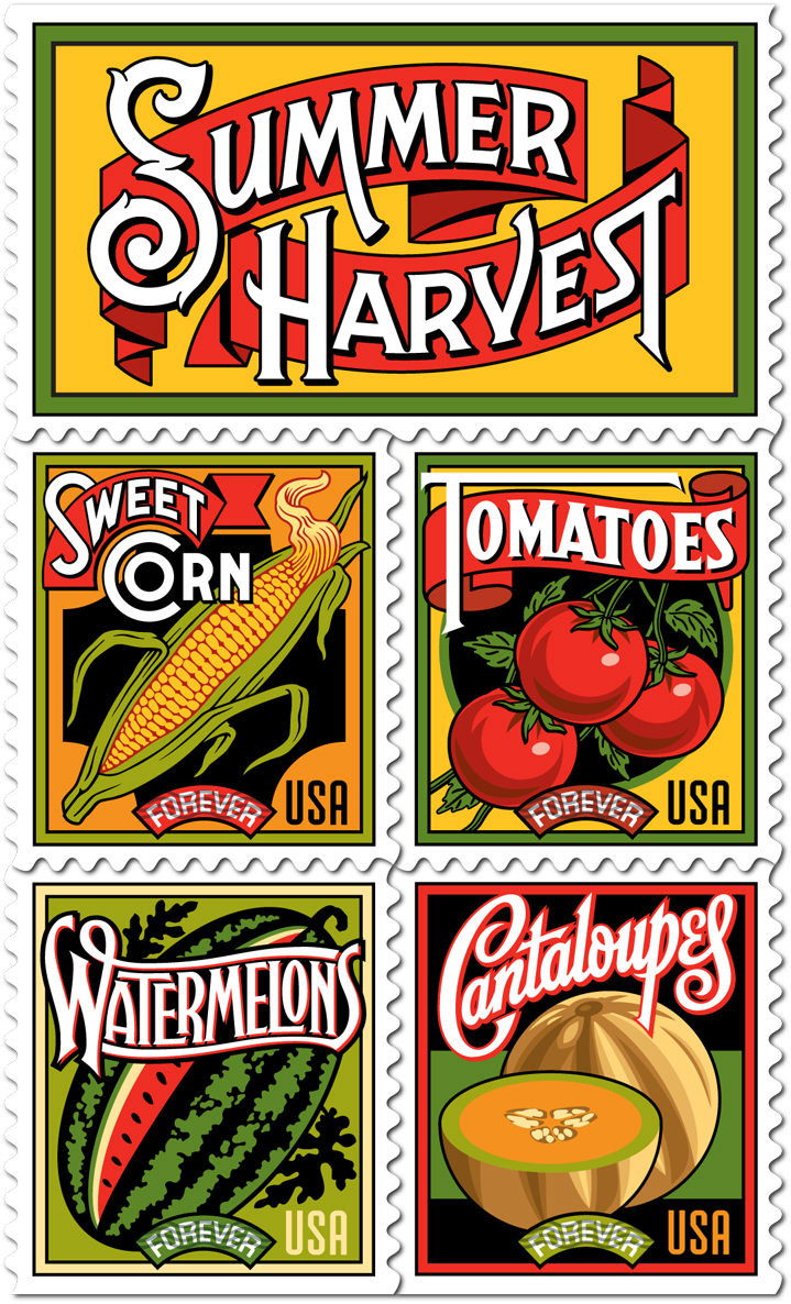 Michael Doret, Food stamps - digital and bold illustrations with typography