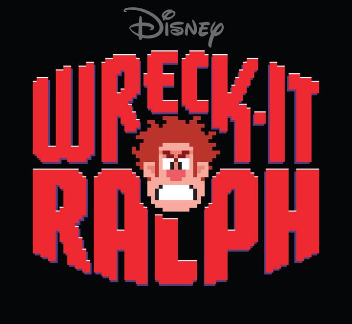 Michael Doret, typography for Disney movie wreck-it-ralph. Pixelise lettering