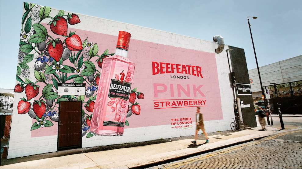 Good Wives and Warriors, Beefeater gin repeat pattern Good Wives and Warriors 