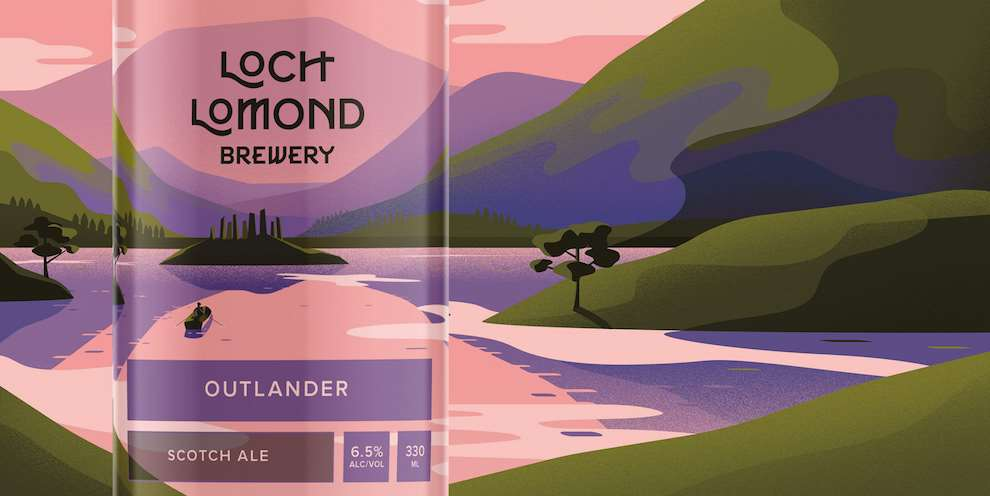 Jack Daly, Closeup of packaging illustration for Loch Lomond Brewery.
