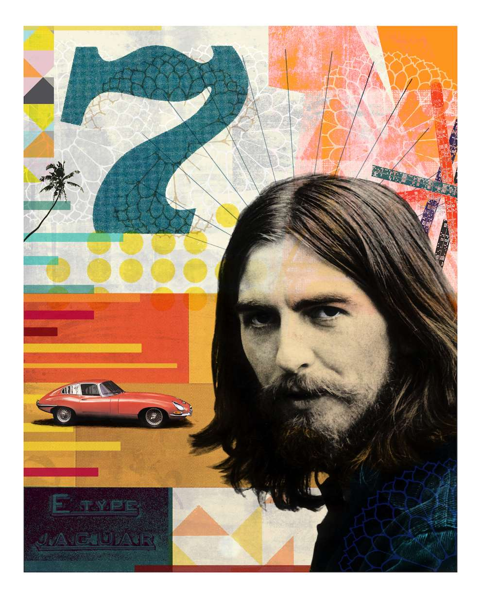 Jackie Parsons, Combined collage, print and photography piece of the Beatles.