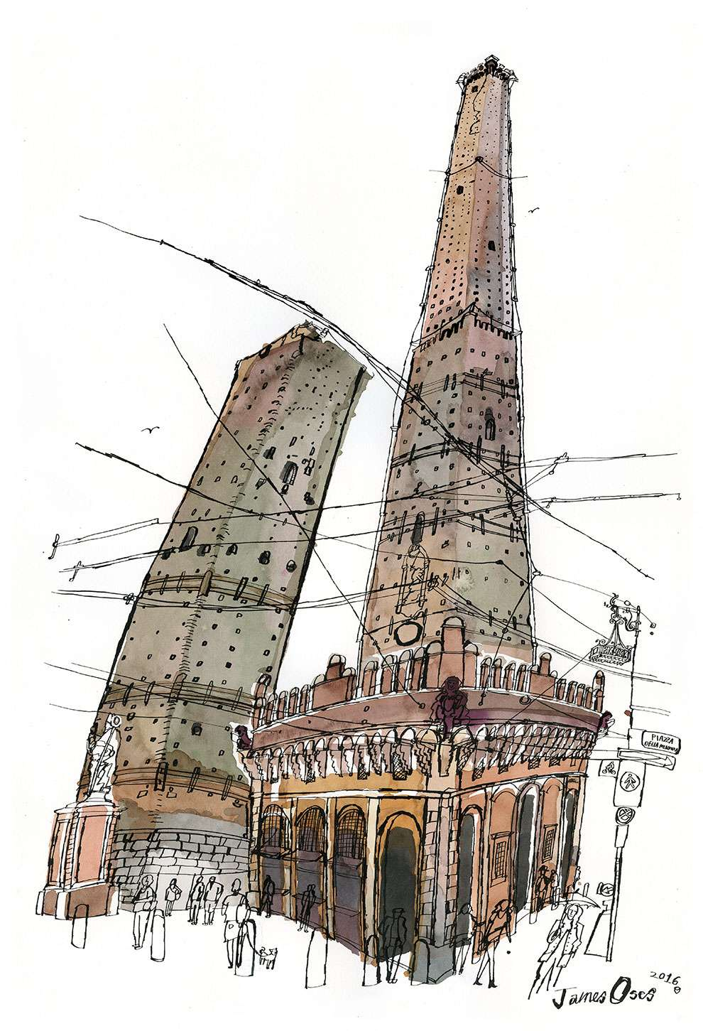 James Oses, Architectural watercolour illustration