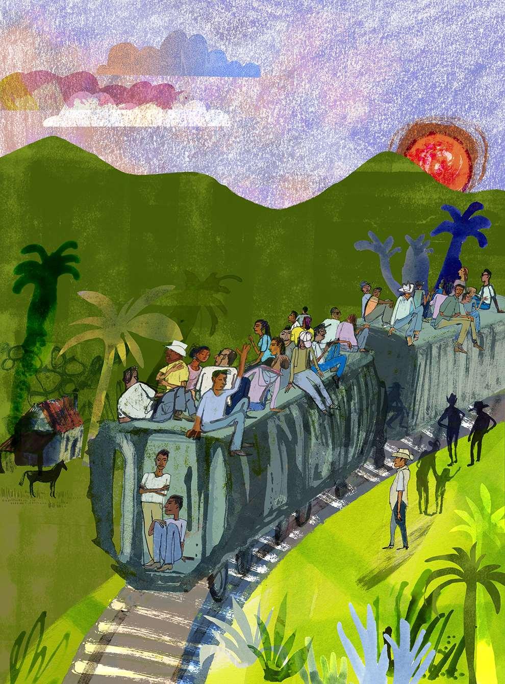 Jill Calder, Textural handrawn illustration