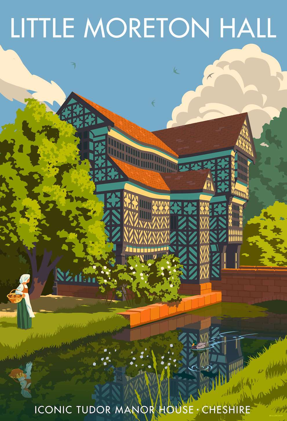 Stephen  Millership, Little Moreton Hall architectural historical poster