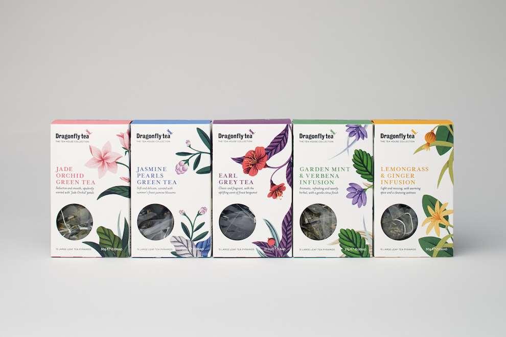 Tatiana Boyko, Tatiana Boyko Detailed Tea Packaging for DragonFly Tea