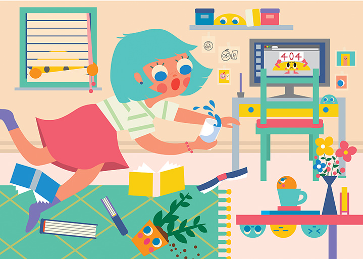 Uijung Kim, digital, illustration, korean, characters, happy, playful, fun, childrens, kids, illustrator, bold, bright