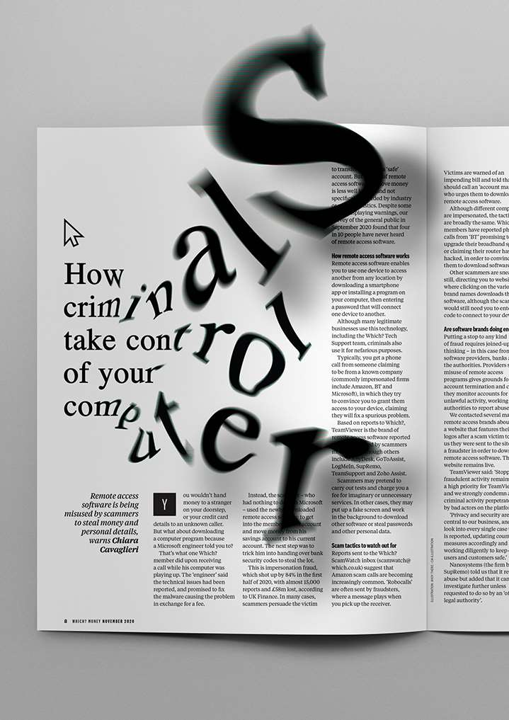 Ahoy There, Clever Typography bursting from page.