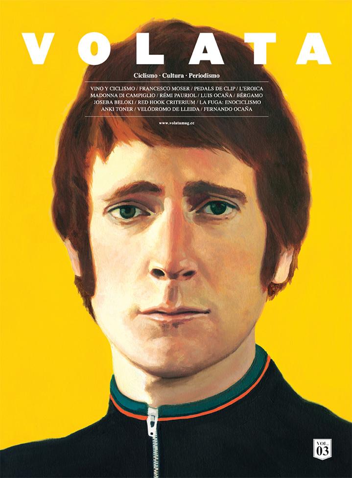 David De Las Heras, Handpainted portrait of a man on a magazine cover