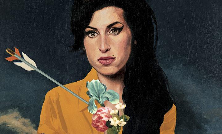 David De Las Heras, charming Handpainted portrait of Amy Winehouse
