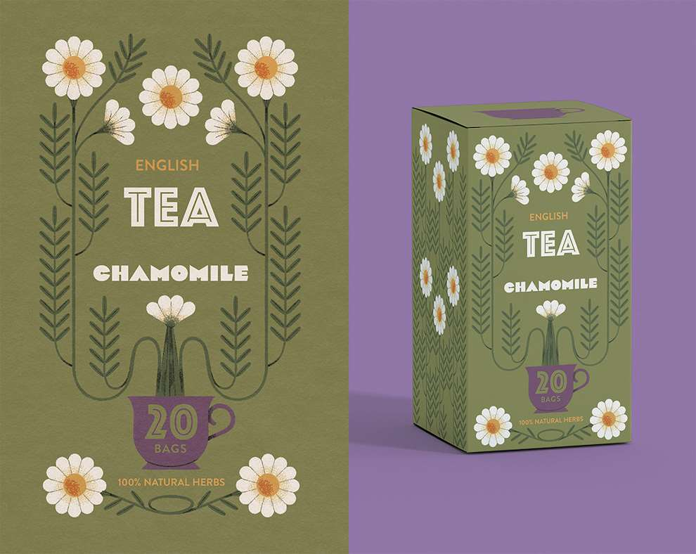 Marcos Farina, Textural graphic pattern for tea packaging