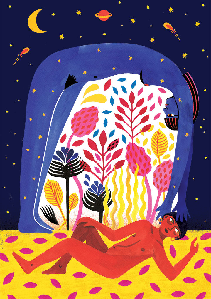 Margaux Carpentier, folk, illustration, bold, playful, fantastical, vector, decorative, detail, animals, creatures, 3D, pen, ink, graphic.