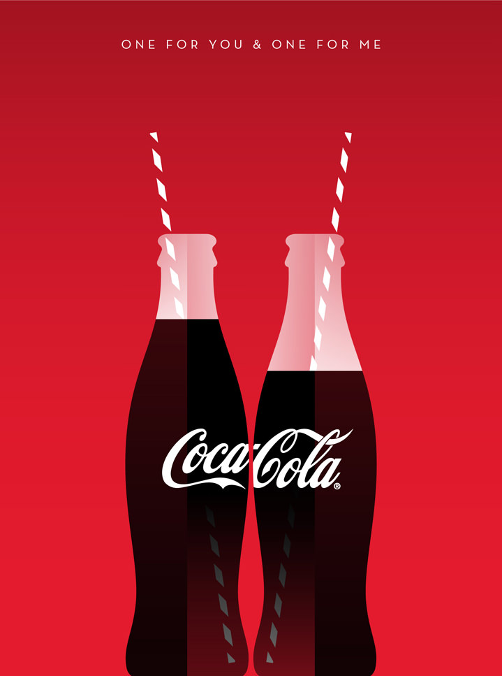 Stanley Chow, Bold and minimalist illustration of coca cola bottle