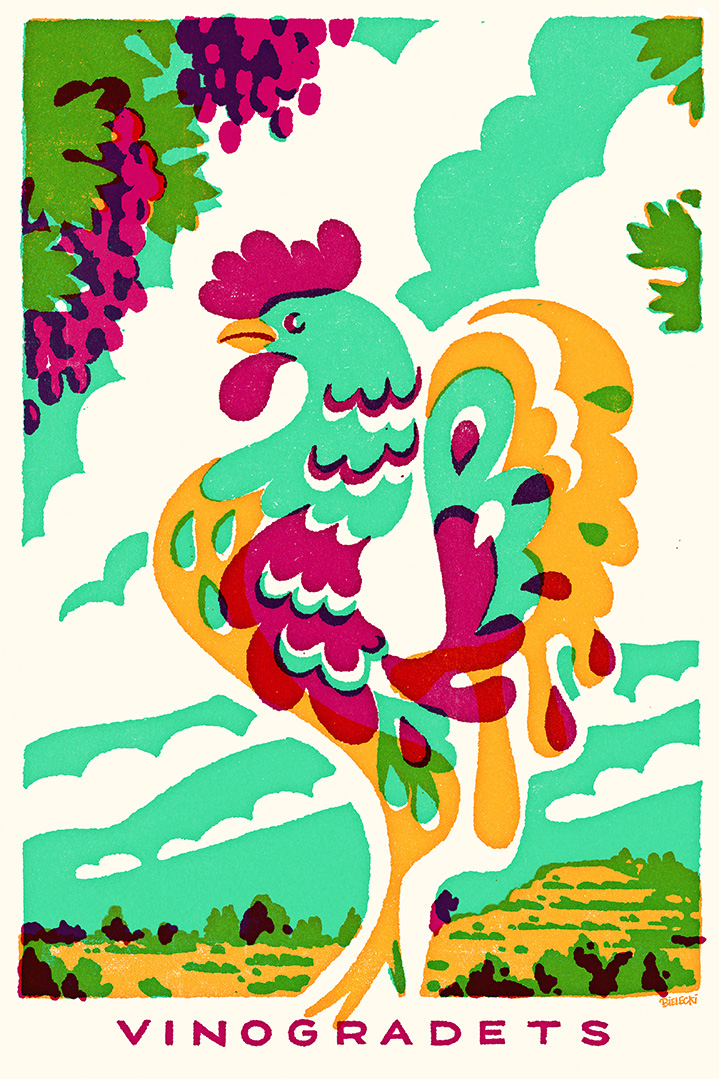 Jan Bielecki, Retro poster of a rooster