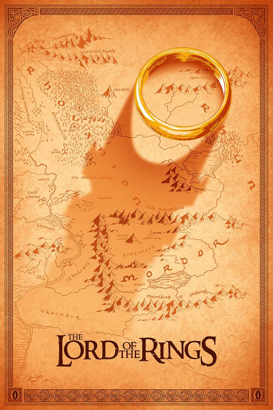 Doaly, Lord of the Rings alternative poster art. Maps.