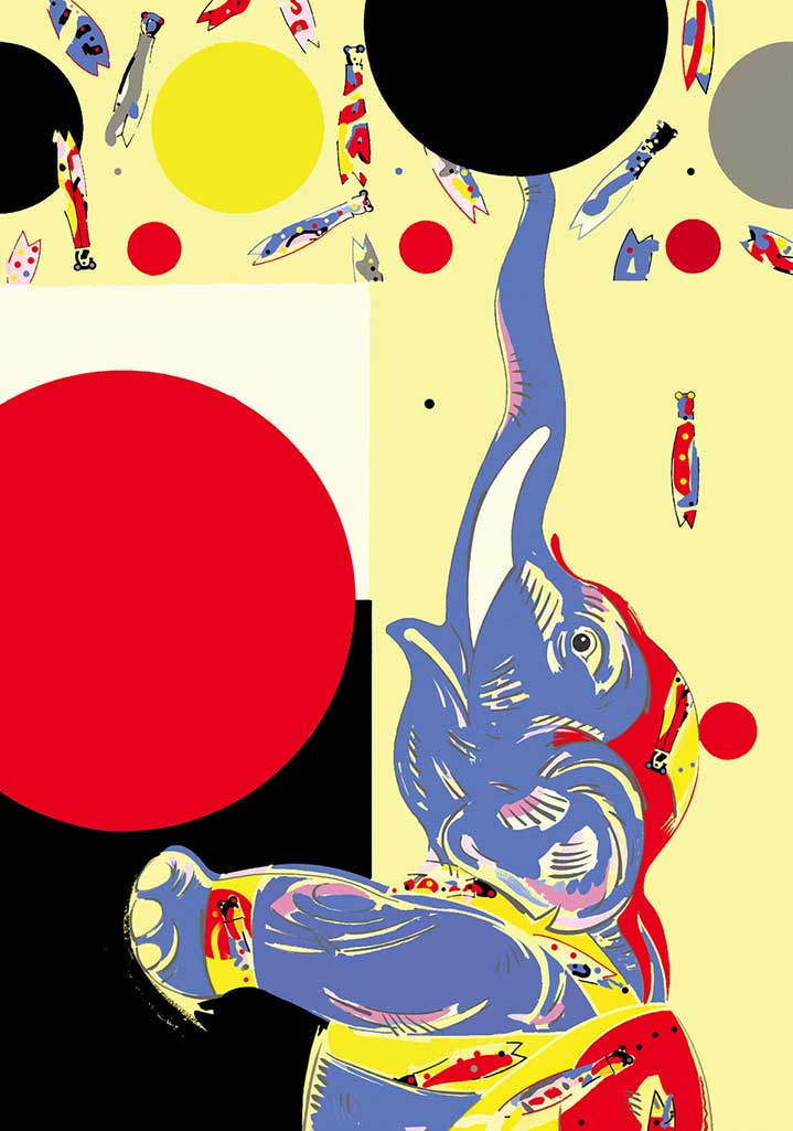 Chris McEwan, Bold and graphic elephant illustration