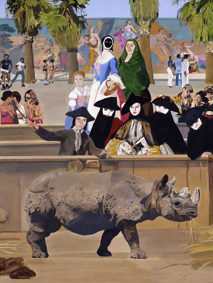 Sir Peter Blake, Collage and handpainted surreal illustration