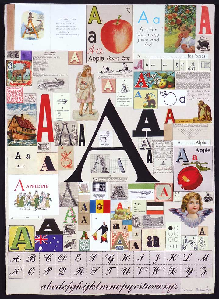 Sir Peter Blake, Collage of the letter A