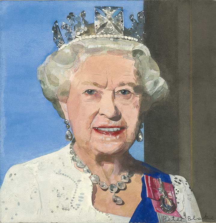 Sir Peter Blake, Watercolour portrait of the Queen