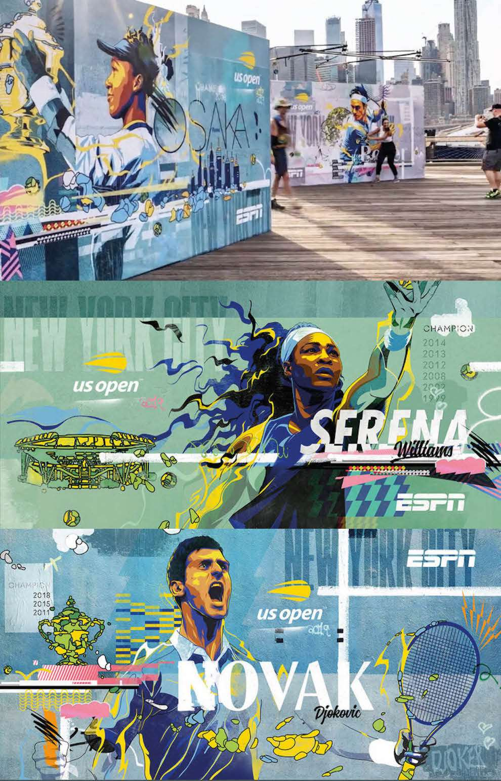 Matt Taylor, Digital photographic illustration of tennis player for the tennis US open