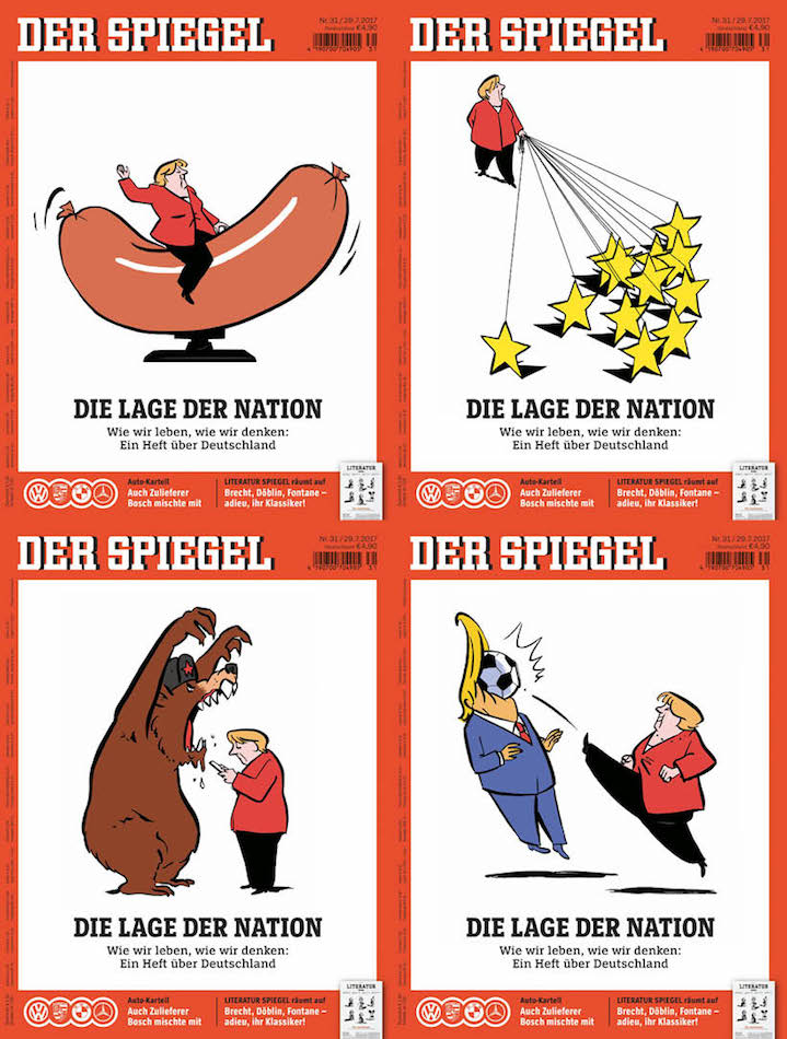 Nishant Choksi, Political illustration for german magazine cover
