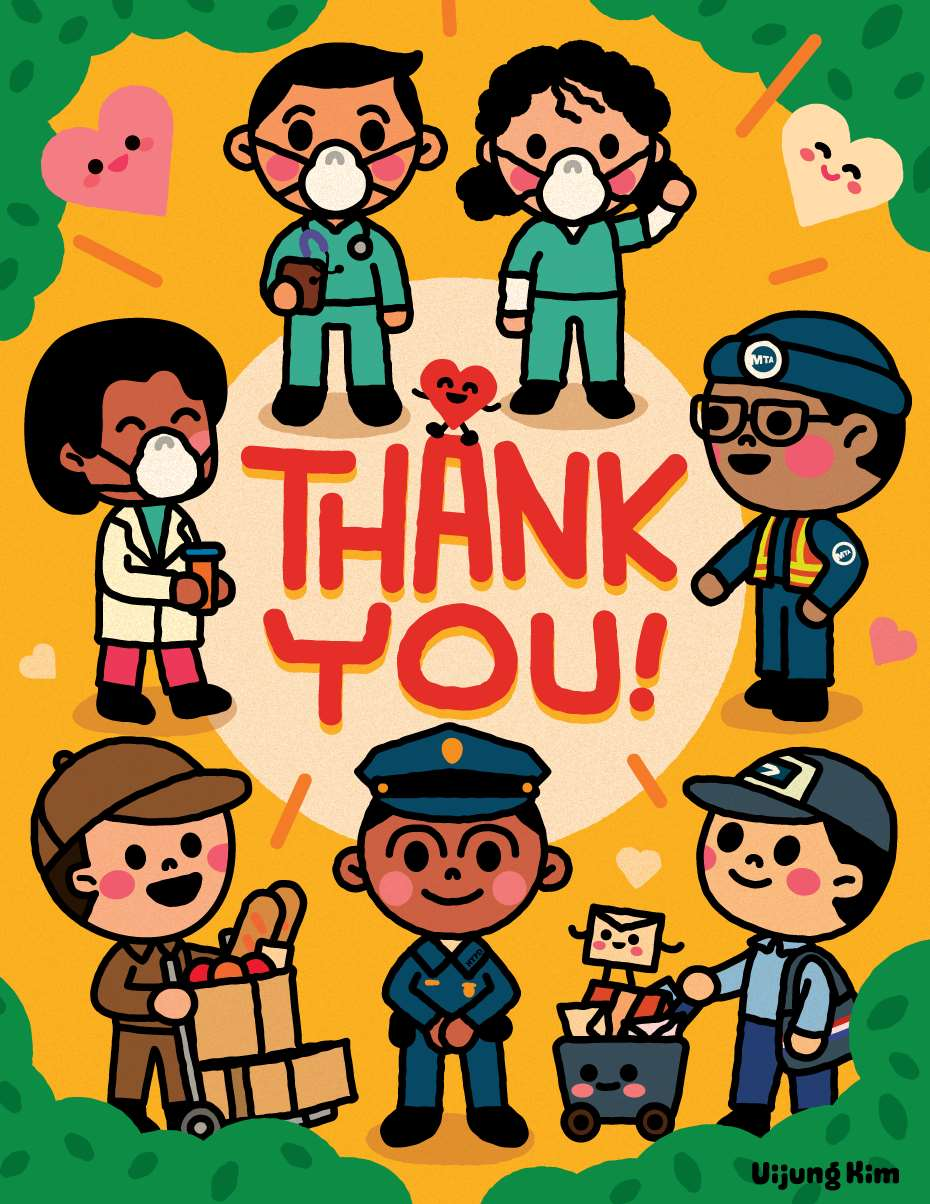 Uijung Kim, Uijung Kim Cute Poster Nurses with Masks Thank You Celebration