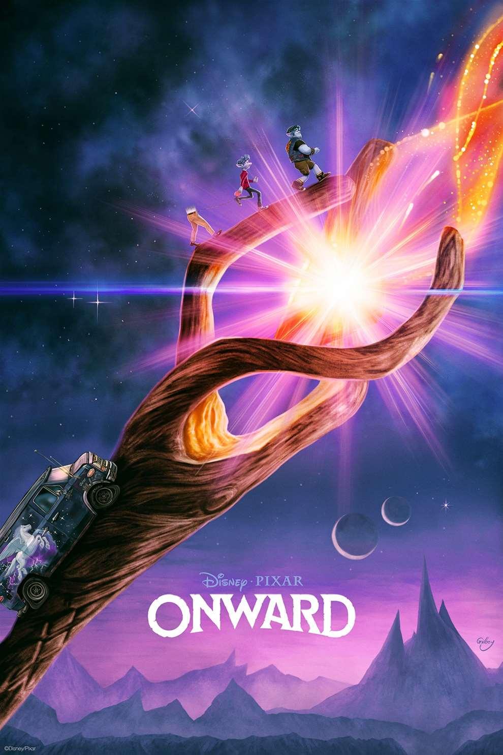 Sam  Gilbey, Painterly digital Disney poster for Onward animation