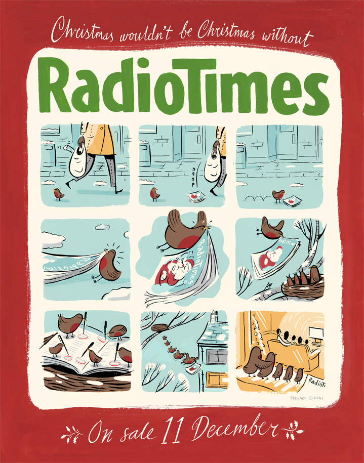stephen collins, illustration, illustrator, editorial, publishing, typography, characters, witty, comical, funny, painterly, the guardian, magazine, newspaper, editorial, publishing, typography, radio times, comic, sequential, painterly radio times