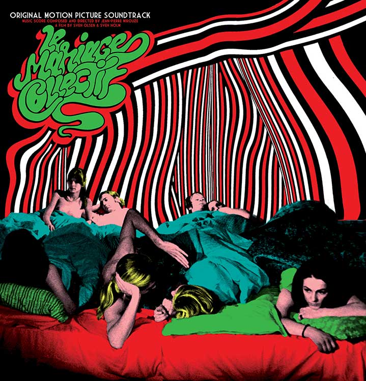 Elzo Durt, Elzo Durt Psychedelic and Geometric Illustration of people in bed, with bold patterns - album cover artwork.