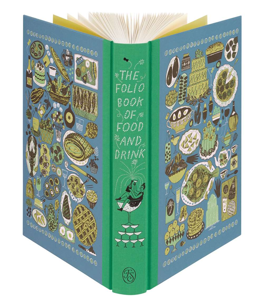 Alice Pattullo, Cover illustrations for 'The Folio Book Of Food and Drink' published by Folio Society in 2017. Photos from Folio Society.