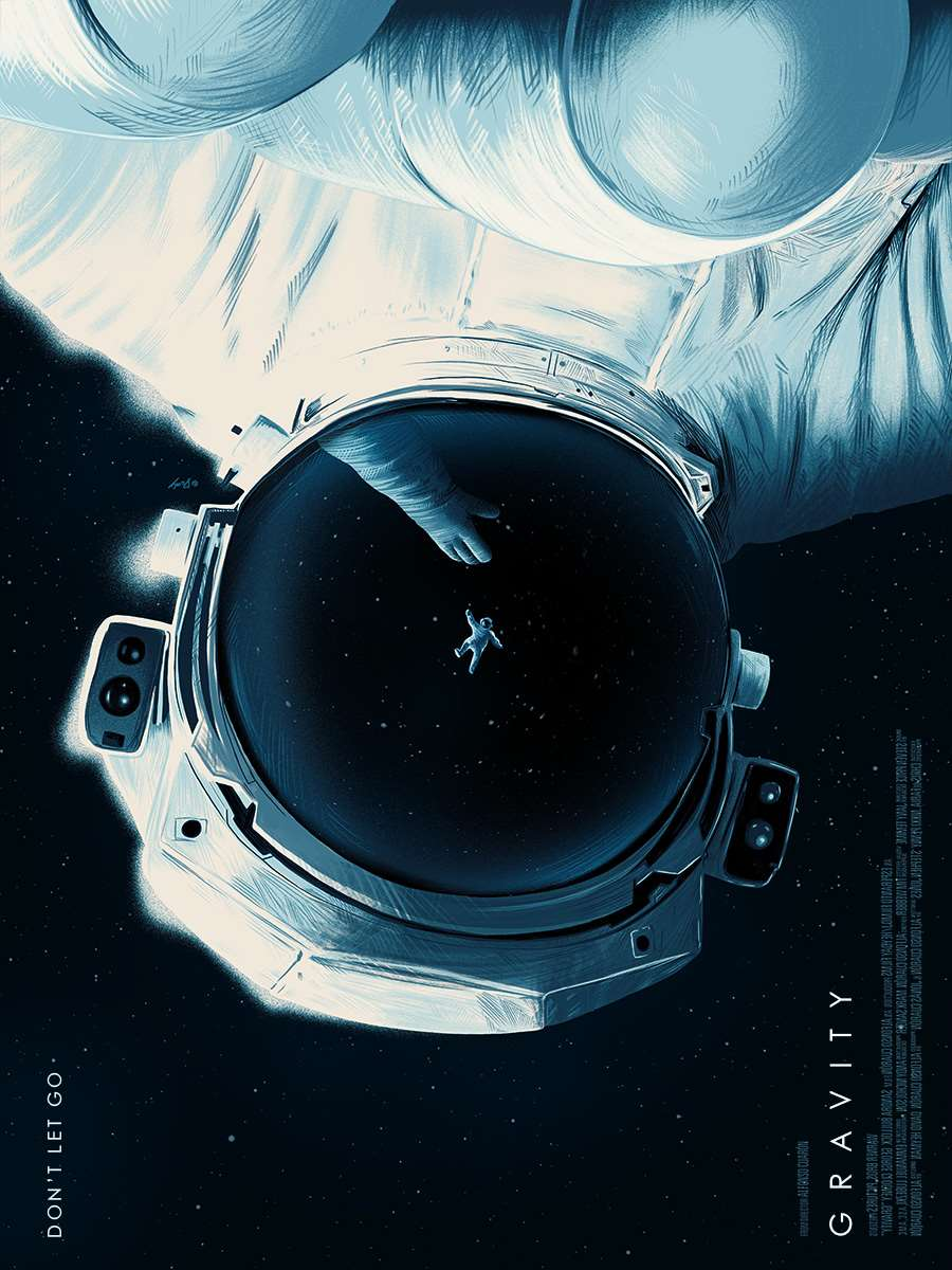 Doaly, Personal Digital Poster Artwork for Gravity, with Astronaut in Space.