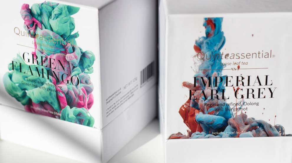 Alberto Seveso, slow motion photograph of ink in water. Abstract shapes for packaging