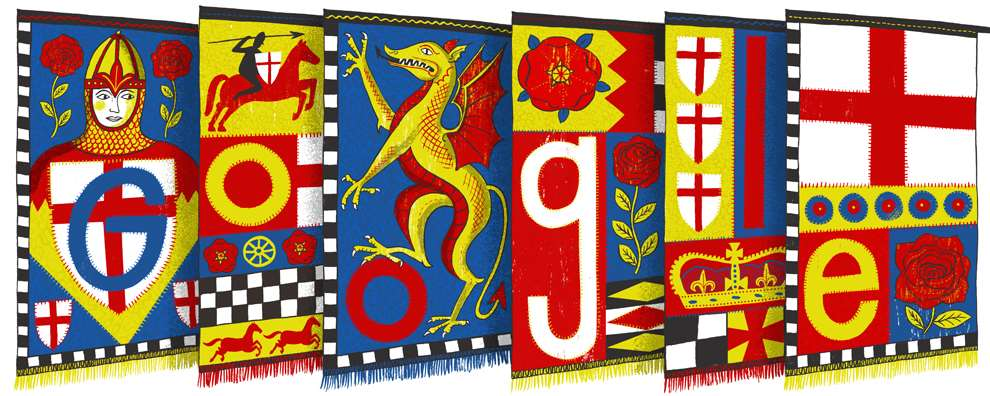 Alice Pattullo, St George's Day Patron Saint of England Google Doodle